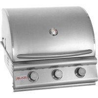 Blaze 3 burner grill closed hood
