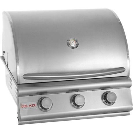 Blaze 3 burner grill closed hood