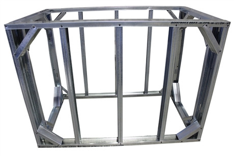 "DIY BBQ 4ft Straight Modular Frame Section 42"" Bar Height"