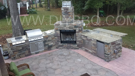DIY BBQ Custom Fireplace And Island Frame Kit