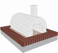 Do It Yourself Foam Pizza Oven Form Kit Package Deal