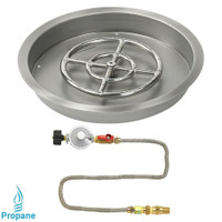 "American Fireglass 19"" Round drop-in Pan Match Lite- Propane"