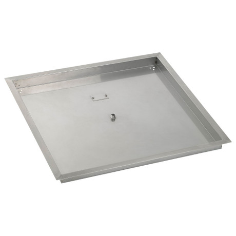 American Fireglass 30 Quot Square Stainless Steel Drop In Fire