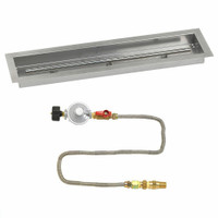 "American Fireglass 30""x 6"" Linear Drop-In Pan with Match Lite Kit - Propane"
