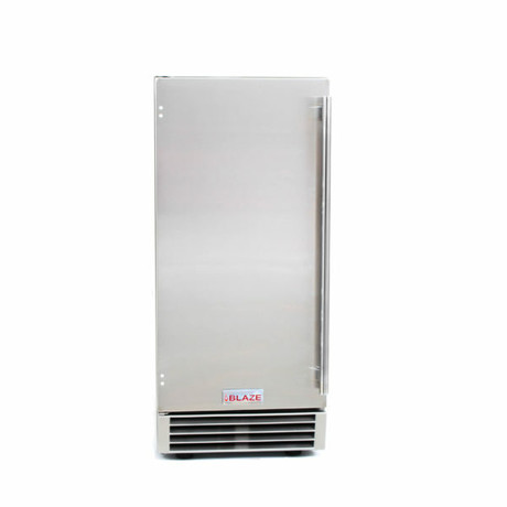 Blaze 50 LB. 15 Inch Outdoor Ice Maker with Gravity Drain