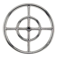 "American Fireglass Stainless Steel 12"" Fire Pit Ring Burner"