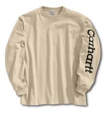 Carhartt Sand Logo Long-Sleeve T-Shirt
