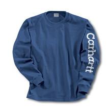 Carhartt Boys Royal Blue Long Sleeve Logo T-Shirt