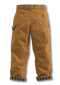 Carhartt Boys Brown Duck Dungaree