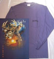 Gibbs Store Blue Deer Long Sleeve T-Shirt