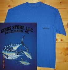 Gibbs Store Royal Blue Fish Short Sleeve T-Shirt