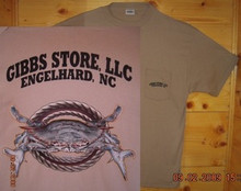 Gibbs Store Tan Crab Short Sleeve T-Shirt