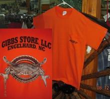 Gibbs Store Orange Crab Short Sleeve T-Shirt