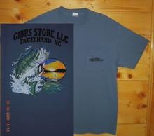 Gibbs Store Medium Blue Fisherman Short Sleeve T-Shirt