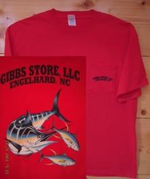 Gibbs Store Red Fish Short Sleeve T-Shirt