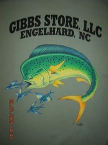 Gibbs Store Light Green Dolphin Short Sleeve T-Shirt