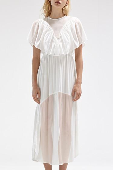 Shaee Cape Dress, Ivory