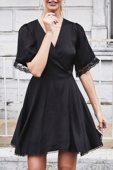 Lourdes Dress, Black