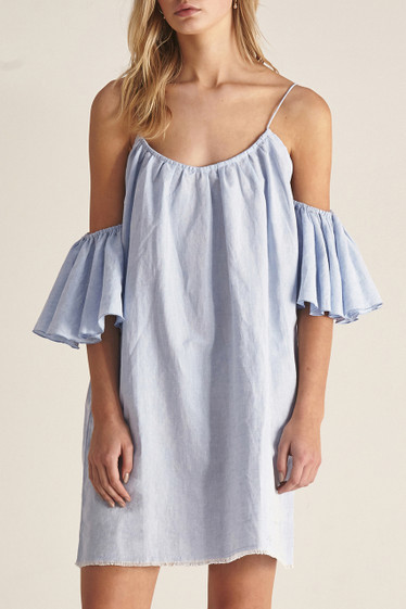 Tully Dress, Chambray Blue