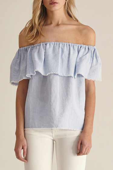 Fifi Top, Chambray Blue