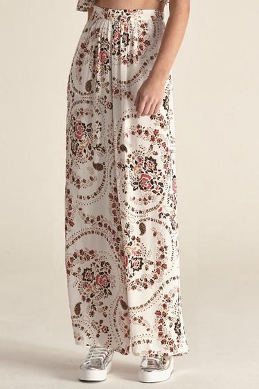 Sydnee Pants, White Florete