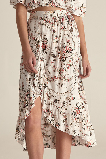 Margot Skirt, White Florete