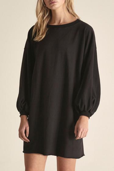 Francine Sweater Dress, Black