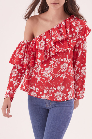 Wildflower L/S Shoulder Top **PRE ORDER - DELIVERY DUE 5 - 15TH JUNE