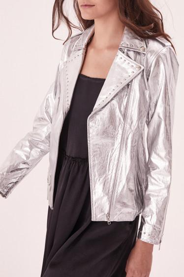 Bobbi Stud Jacket, Silver