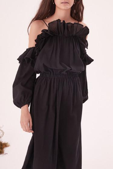 Savannah Midi Dress, Black