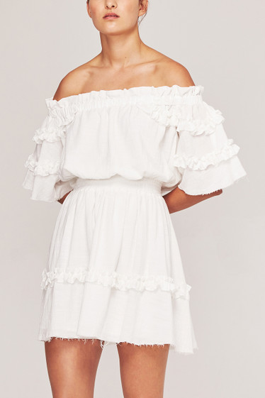 Soleil Dress, Blanc