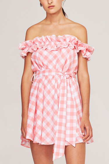 Brigitte Mini Dress, Rose