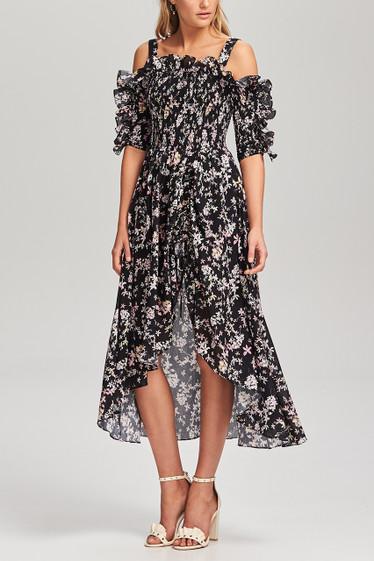 Le Bloom Shirred Dress