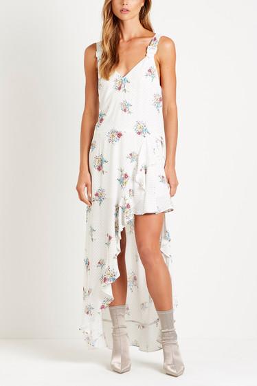 Bellflower Slip Dress, Blanc