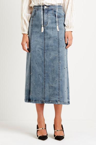 Tyler Stud Midi Skirt