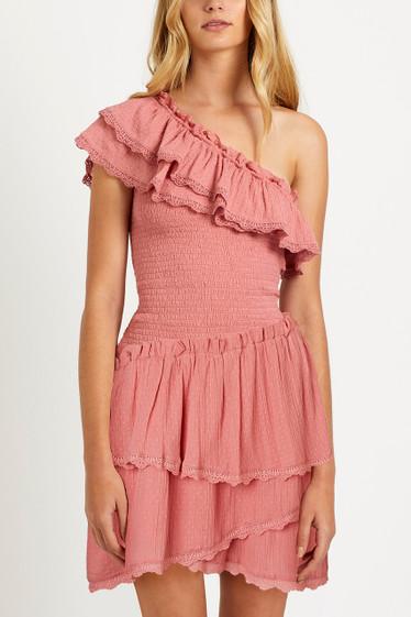Melody Ruffle Dress, Cinnamon