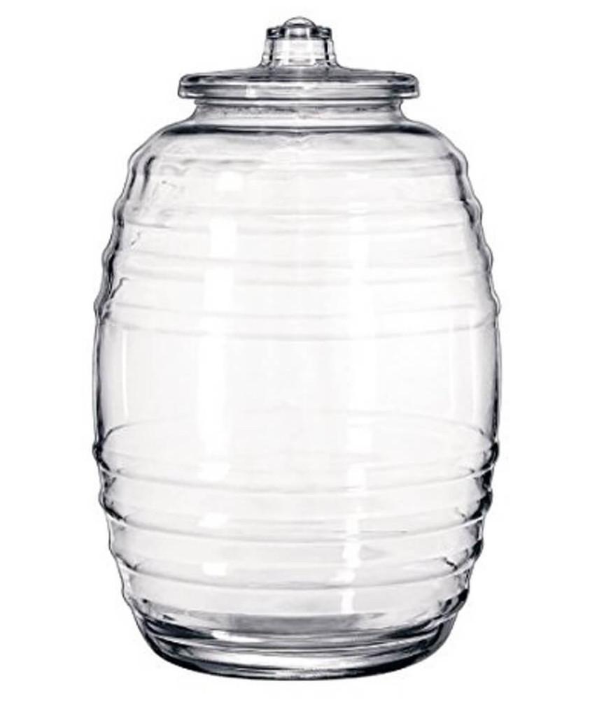20 Liter (5 Gallon) Glass Pickle Jar