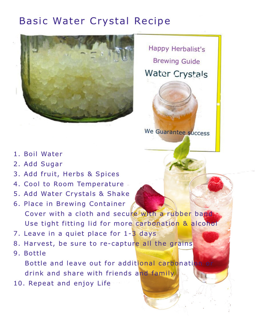 Water Crystals are easy and simply to make healthy probiotic drinks everyone will be sure to enjoy