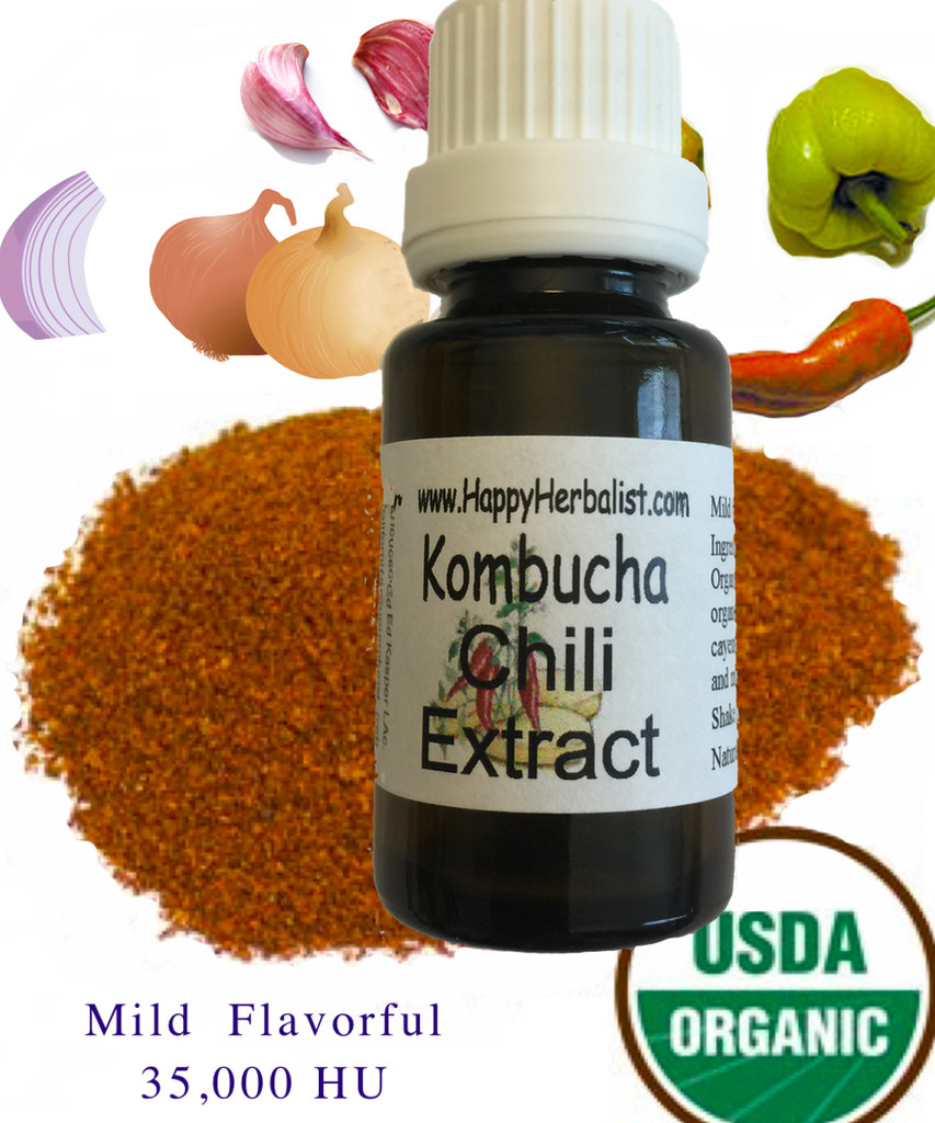 Certified Organic Salt free Alcohol Free Chili Extract
