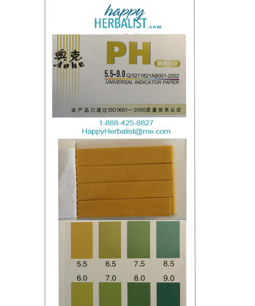 pH testing papers for pH between 5 and  9. 100 strips and both ends may be used for greater economy.