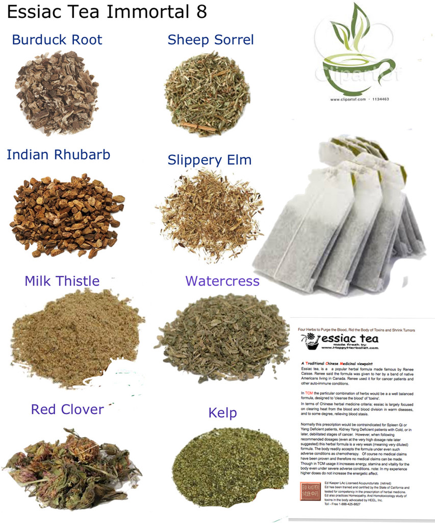 Bulk herbs spices organic organic herbal tea - Certifed Organic Essiac Tea S 4 Tea Formula And Recipe Essiac 8 Immortal Herbs Original Essiac P Lus 4 Special Herbs