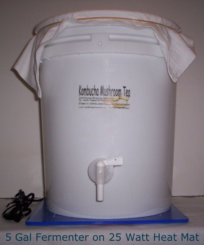 Fermenters fit variety of heating pads