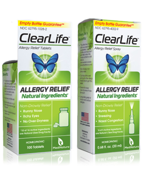 ClearLife Allergy Relief  - Luffeel Nasal Spray Homeopathic Now ClearLife