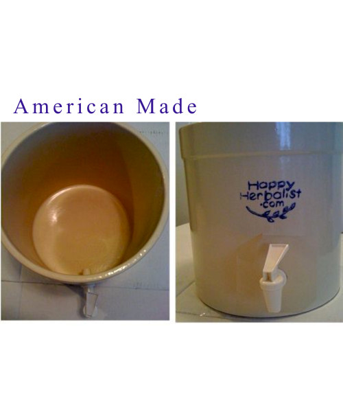 2 1/2 Gallon CLAY with Spigot American Made
