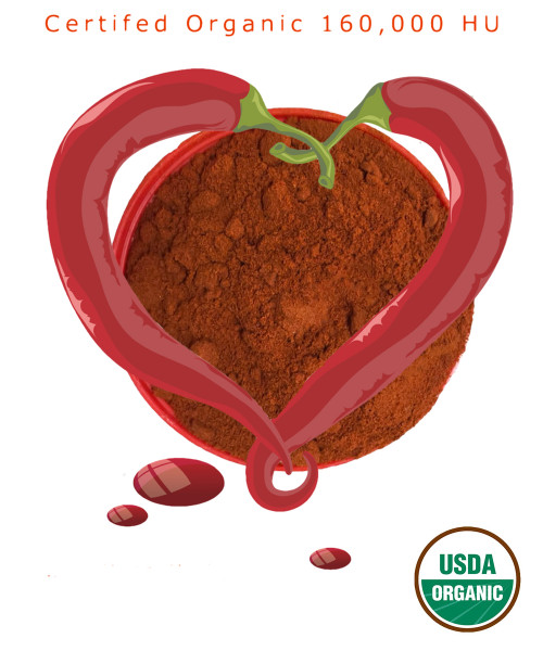 Cayenne Healthy Functional Food. The Hottest Certified Organic Cayenne available.