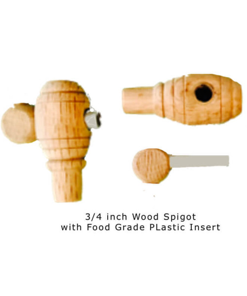 Spigot Wood 3/4 with Plastic Insert