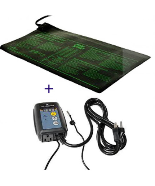 Heating Mat with  Digital Thermostat Control  9 inch x 19.5 inch