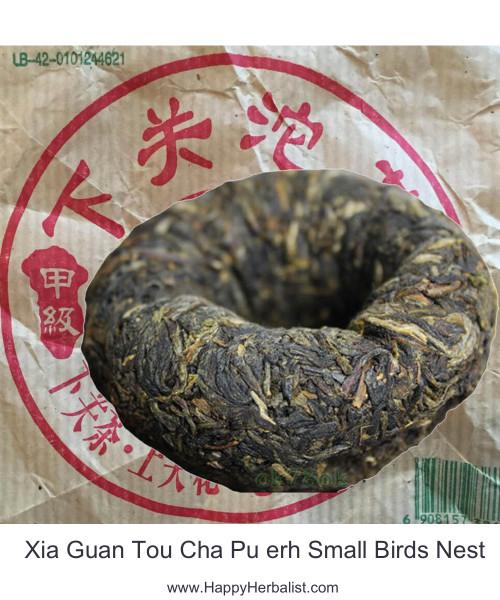Pu erh  Small Birds Nest Xia Guan Tou Cha
