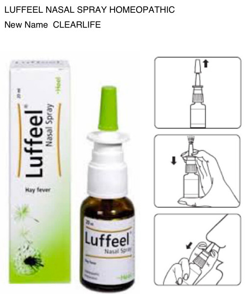 Luffeel Nasal Spray Homeopathic Now ClearLife