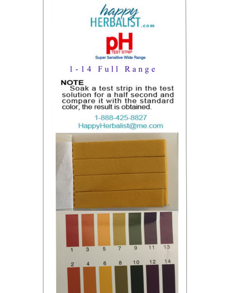 pH test 1-14 paper 100 paper stripes